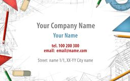 Architect constructor designer builder business card background. Illustration Royalty Free Stock Image