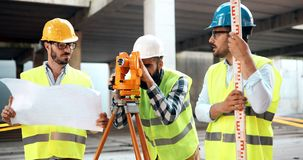 Architect consult engineer on construction site. Architect consult engineer on construction or building site Stock Photos