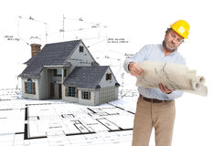 Architect consulting his plans Stock Photography