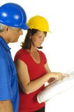 Architect and contractor Stock Image