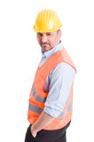 Architect or contractor posing on white background Stock Image