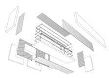Architect 3d drawing of balcony. Construction industry. Vector rendering of 3d Royalty Free Stock Image
