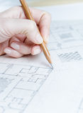 Architect Designing Stock Image
