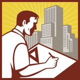 Architect draftsman draughtsman Stock Image