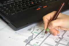 Architect Drawing Stock Images