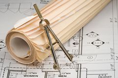Architect Drawings Royalty Free Stock Photo