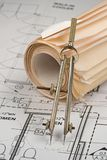 Architect Drawings Royalty Free Stock Photography