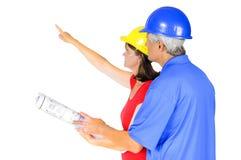 Architect en contractant Stock Afbeeldingen