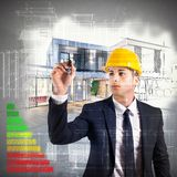 Architect energy certification Royalty Free Stock Photo