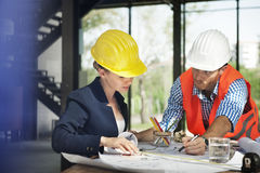 Architect Engineer Discussion Brainstorming Construction Concept. Architect Engineer Discussion Brainstorming Meeting Construction Stock Image