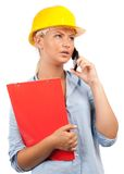Architect or engineer lady Royalty Free Stock Photos