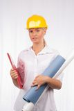 Architect or engineer lady Royalty Free Stock Images