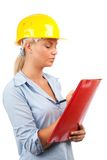 Architect or engineer lady Royalty Free Stock Photo