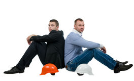 Architect and engineer taking a break Stock Photography