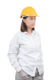 Architect or Engineer woman Look smart portrait. Woman wearing Royalty Free Stock Image