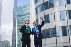 Architect and engineer. Working in a team Stock Photo