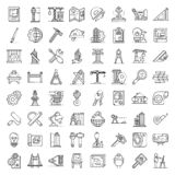 Architect equipment icons set, outline style. Architect equipment icons set. Outline set of architect equipment vector icons for web design isolated on white vector illustration