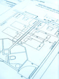 Architect floor plan, hotel construction Royalty Free Stock Photos