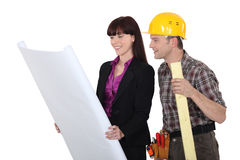 Architect and foreman Royalty Free Stock Images