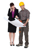 Architect and foreman Royalty Free Stock Image