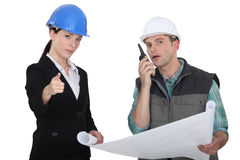 Architect and foreman Stock Photos