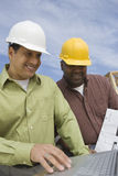 Architect And Foreman In Discussion royalty free stock photos