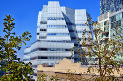 Architect Frank Gehry's white glass IAC Building Stock Image