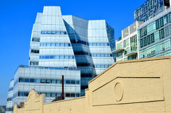 Architect Frank Gehry's white glass IAC Building Royalty Free Stock Images