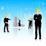 Architect in front of Building Royalty Free Stock Photo