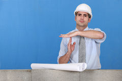 Architect gesturing Royalty Free Stock Images
