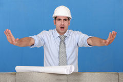Architect gesturing stop Royalty Free Stock Images