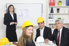 Architect giving presentation Stock Photography