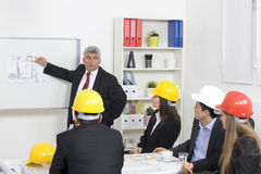 Architect giving presentation Royalty Free Stock Photography