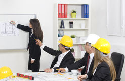 Architect giving presentation Royalty Free Stock Photo