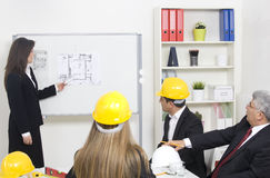 Architect giving presentation Royalty Free Stock Photos