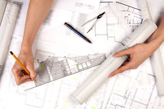 Architect Hands Royalty Free Stock Photo