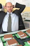 Architect happy with hard work Stock Images