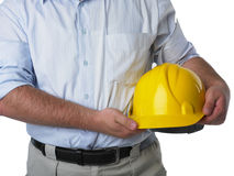 Architect with hardhat Royalty Free Stock Photo