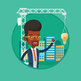 Architect having idea in town planning. Royalty Free Stock Image