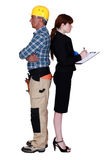 An architect and her foreman. Royalty Free Stock Photography
