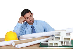 Architect at his desk. Royalty Free Stock Photography