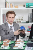 An architect in his office Stock Image