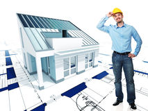 Architect  with his project Stock Images