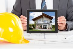 Architect Holding Digital Tablet Stock Images