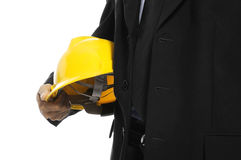 Architect Holding Helmet Royalty Free Stock Photo