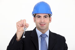Architect holding key. S to a house Stock Image