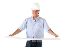 Architect holding a model Royalty Free Stock Photography