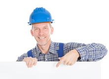 Architect holding placard Stock Photos