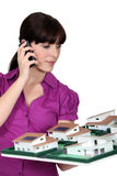 Architect holding a small-scale model Royalty Free Stock Photo