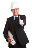 Architect holding thumbs up Royalty Free Stock Photo